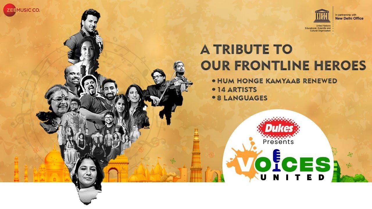 Voices United - Hum Honge Kamyaab | Usha U, Raghu D, Javed A, Shilpa R, Shillong Choir & Haricharan