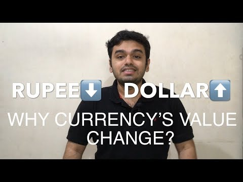 Indian Rupee Falling, Why?|Factors Affecting The Change In Currency's Value (IN HINDI)