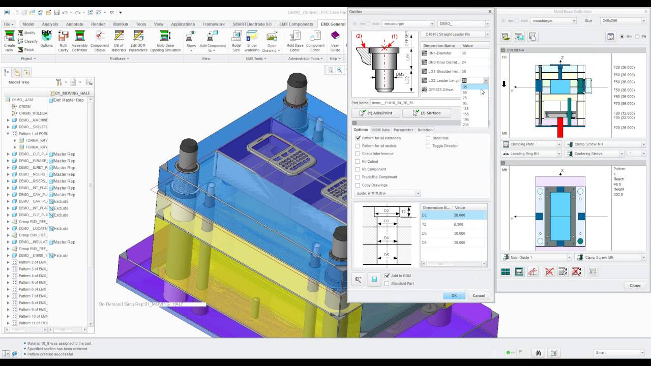 Ptc Creo Expert Moldbase Exension Youtube
