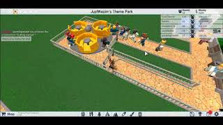 Nice rollercoaster making (Roblox theme park Tycoon 2)