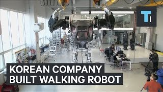 A Korean company built an actual walking robot