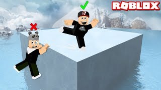 If you fall over the ice, you lose! Difficult Little Games - Roblox Minigame Mania with Panda