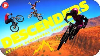 SURVIVING THE EXTREME DEATH JUMP!!! DESCENDERS Gameplay - Downhill Mountain Biking Game