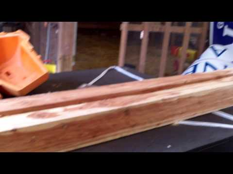 Homemade Saw Mill Build  Day 1  (using a riding mower)