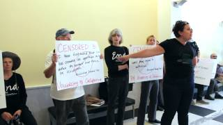 Protect Free Speech – Jewish Voice for Peace Petition Delivery to the UC Office of the President