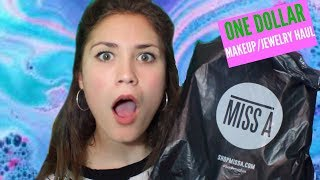 ONE DOLLAR MAKEUP HAUL (MISS A, SURPRISINGLY GOOD QUALITY)