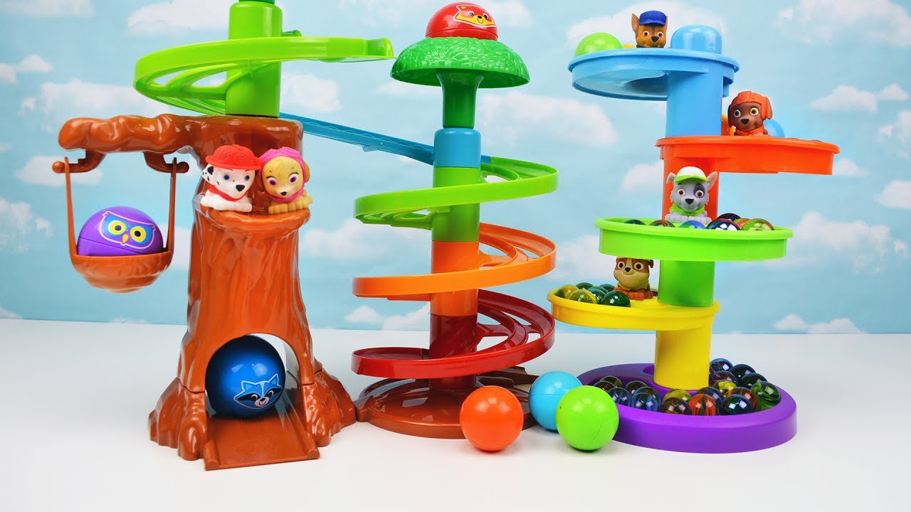 Ball Drop Toy : Kids learn colors with toy tree house playset ball drop