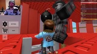 IS THIS GUY HACKING?! - Doomspire Brickbattle - Roblox Minigames