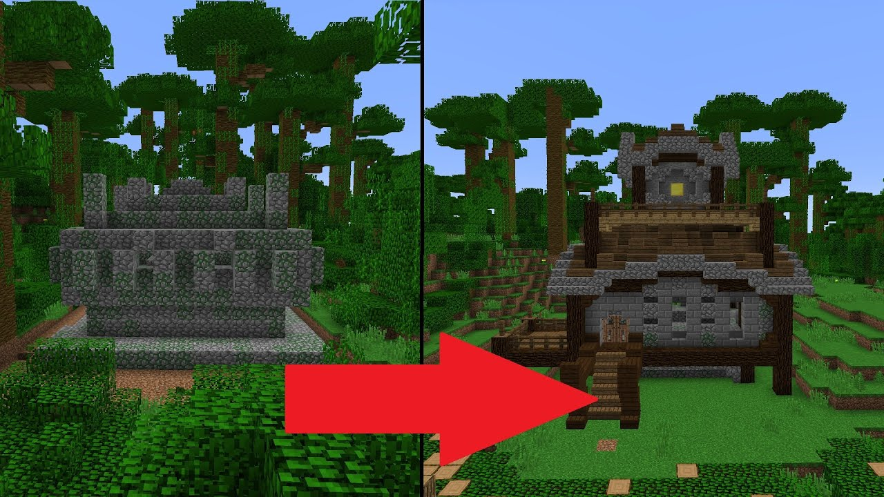 Let S Transform A Minecraft Jungle Temple Youtube