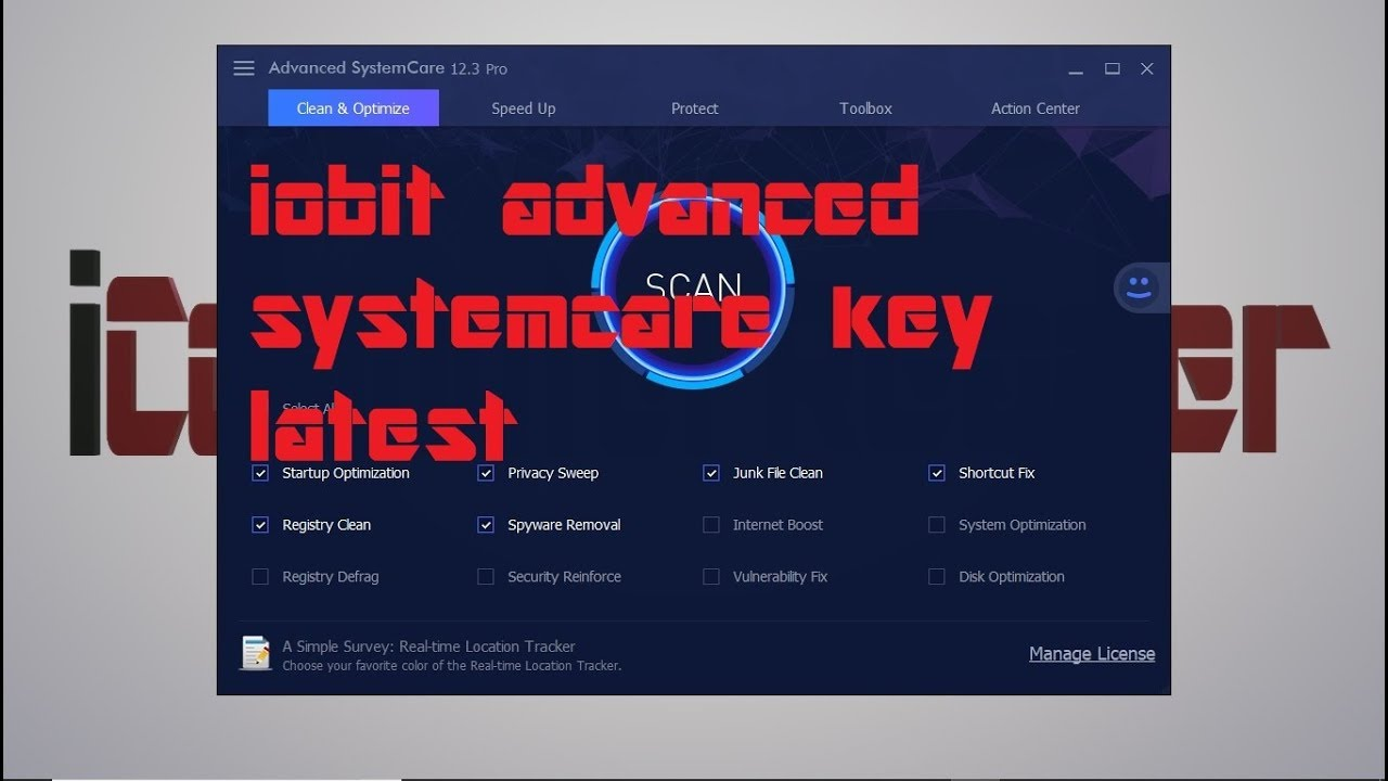 Iobit Advanced  Systemcare  pro 12.3  key