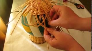 Кружевная вазочка из бумажной лозы. Мастер-класс в формате видео.