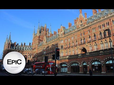 St. Pancras International (Railway Station) - London, UK (HD)