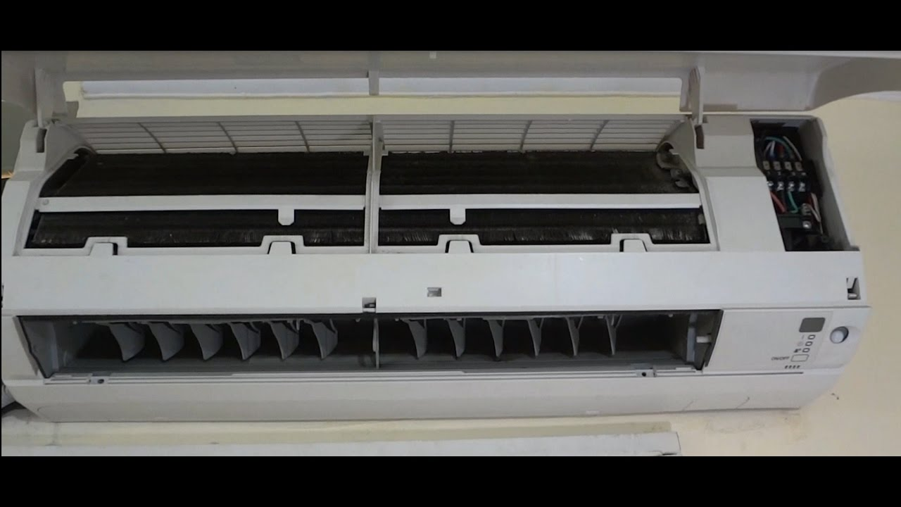 How To Clean Indoor Unit Of Split Ac Youtube