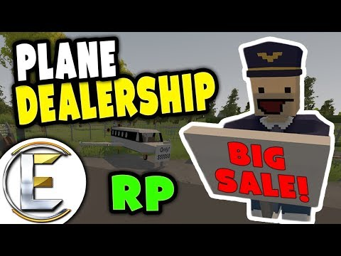 AIRCRAFT DEALERSHIP RP | All planes are on sale up to half price - Unturned RP ( Plane sales man )
