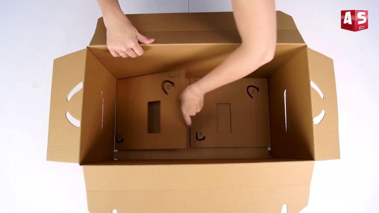 As Kartons Umzugskartonumzugskartons Aufbauanleitung