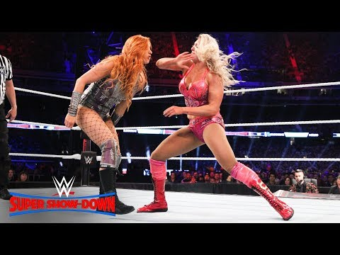 Charlotte Flair won't stay down against Becky Lynch: WWE Super Show-Down 2018 (WWE Network)