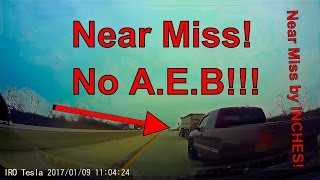 Tesla: Accident Near Miss! AEB Did not Function! ------------------...