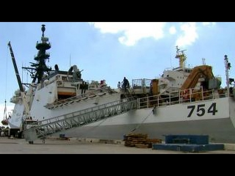Aboard the state-of-the-art US Coast Guard Cutter 'James'