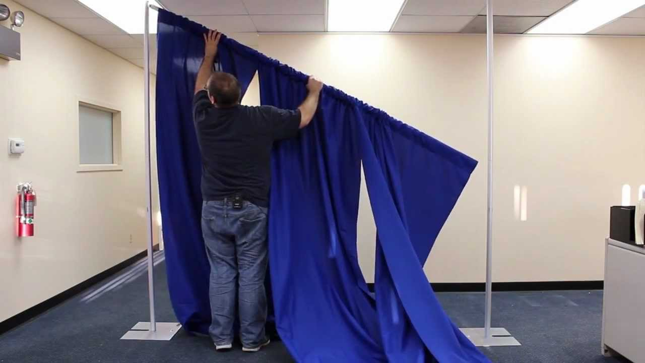 Expo Stand Backdrop : Pipe and drape portable backdrop kit setup: step by step