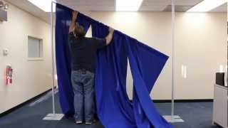 Pipe and Drape Portable Backdrop Kit Setup: Step-by-Step Instructions