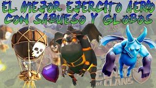 EL MEJOR EJERCITO CON GLOBOS Y SABUESO DE LAVA | CLASH OF CLANS |