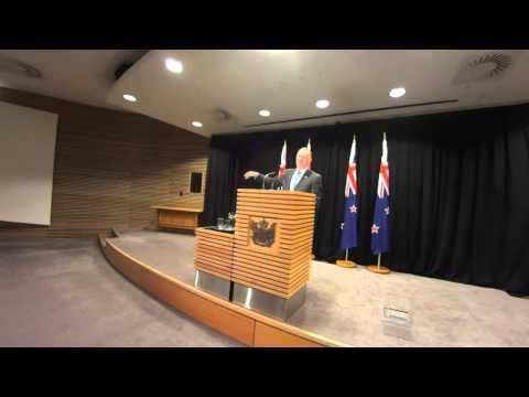 NZ Pm John Key - Post Cabinet Press Conference 15/2/16