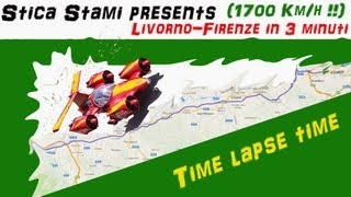 Livorno - Firenze in 3 minuti!! (1700 km orari!!)