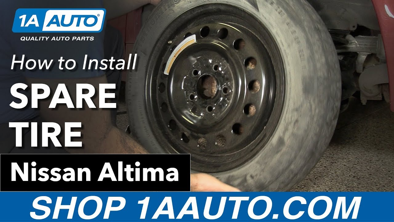 how to install your spare tire 02 06 nissan altima youtube