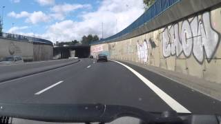 France by Car - Nantes periphique east northbound