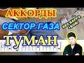 Туман Аккорды Сектор Газа Разбор песни на гитаре Бой Табы Текст mp3
