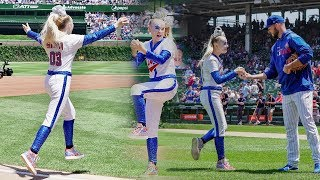 I THREW THE FIRST PITCH AT A CUBS GAME!! - JoJo Siwa
