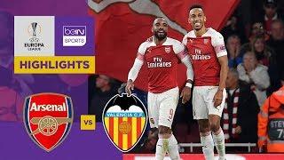 Arsenal 3-1 Valencia | Europa League Highlights