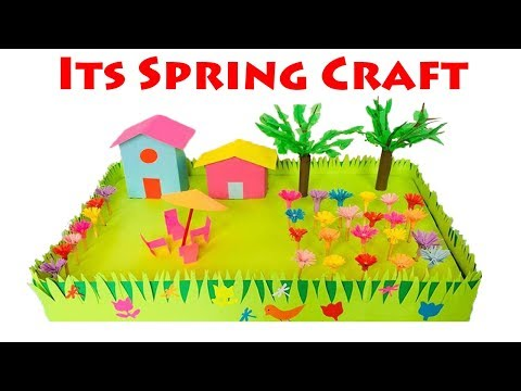 Spring Season 3D Model For School Project Ideas | Spring Season Paper Crafts for School Kids thumbnail