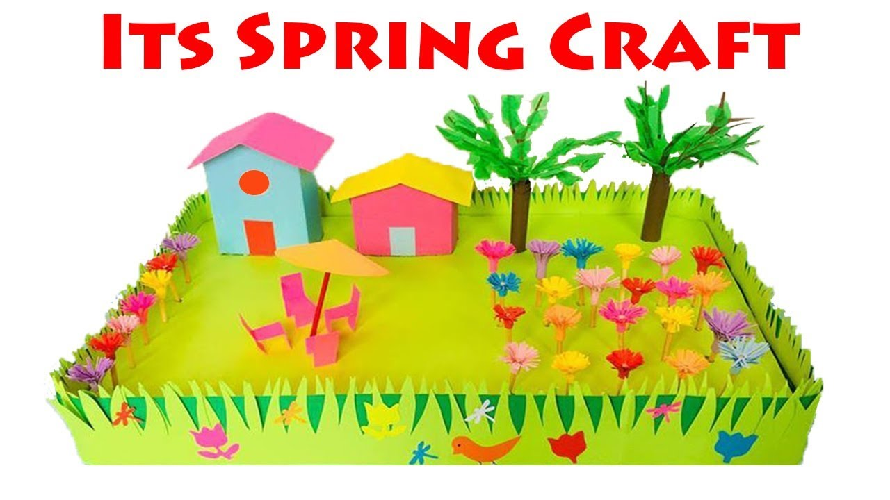 Spring Season 3d Model For School Project Ideas Spring Season Paper Crafts For School Kids