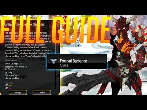 =AQW= How To Get Frostval Barbarian Class (Free Class)