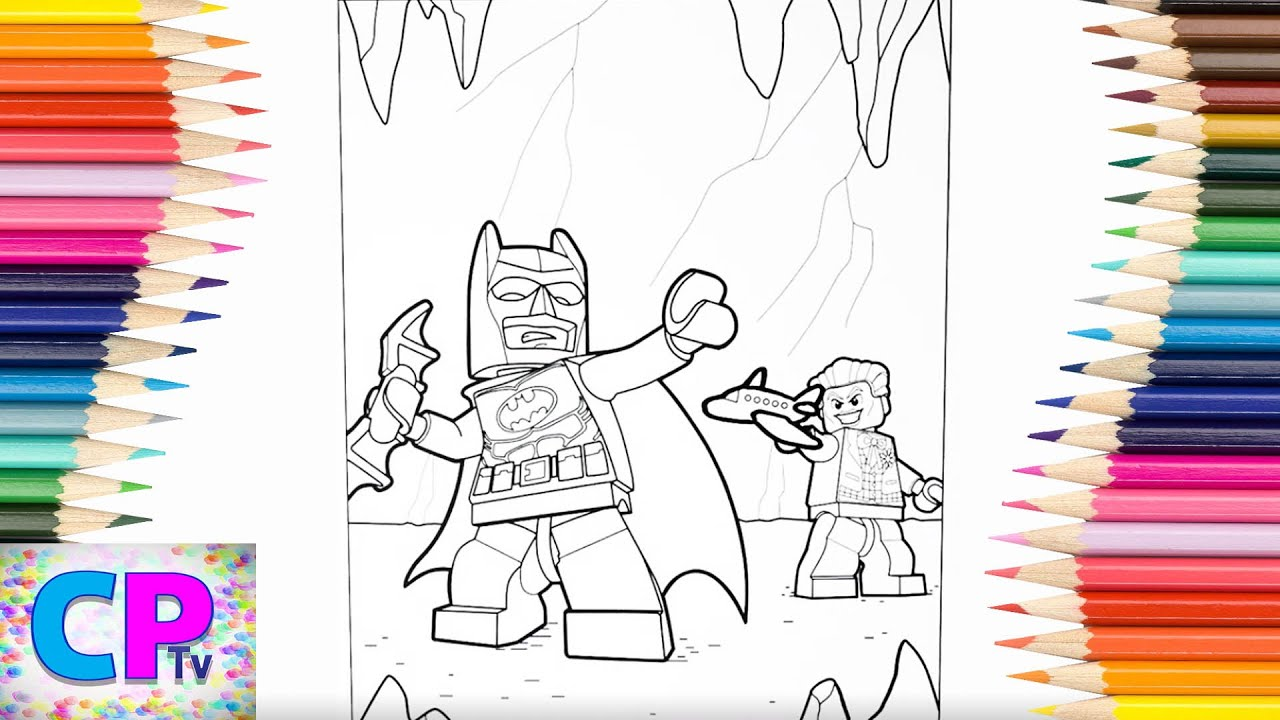 Lego Batman Vs Lego Joker In Underground Fight Coloring Pages Drawing Of Superhero Vs Villain Youtube