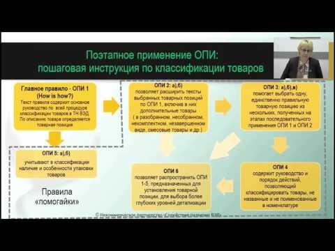 ТНВЭД. ОПИ - основные сведения