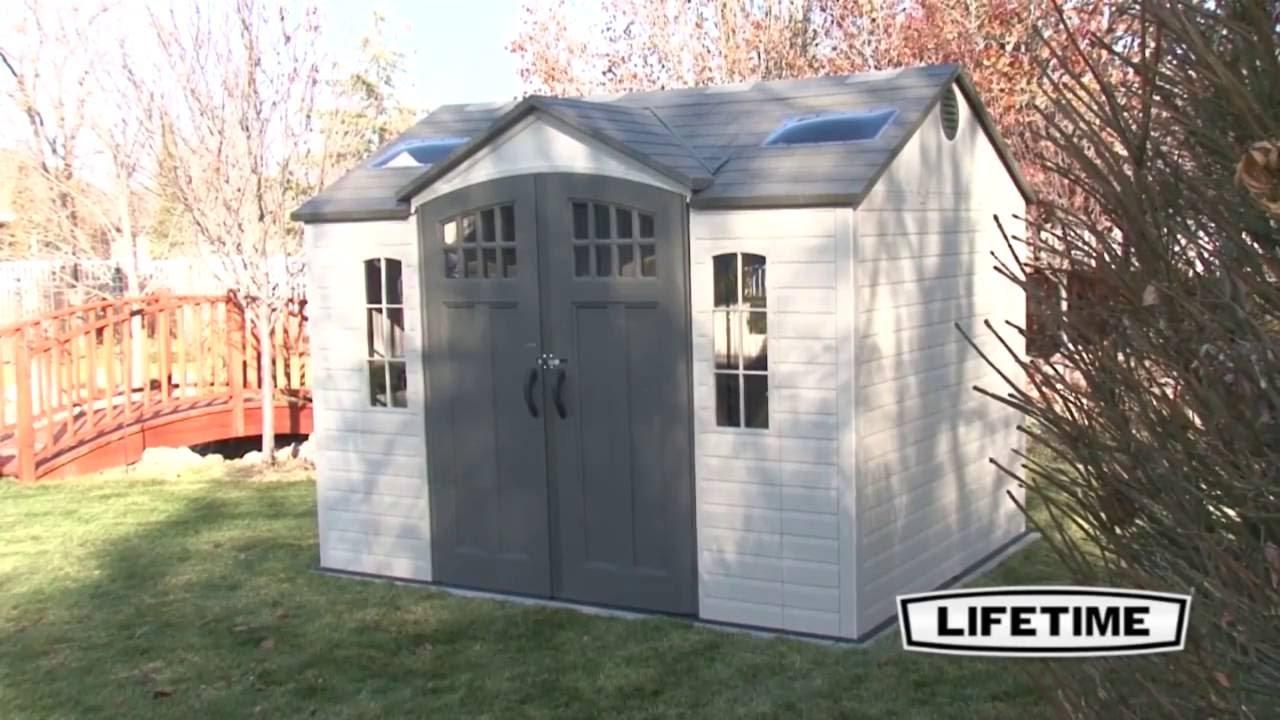 Lifetime 60095 10u0027 X 8u0027 HDPE Garden Storage Shed