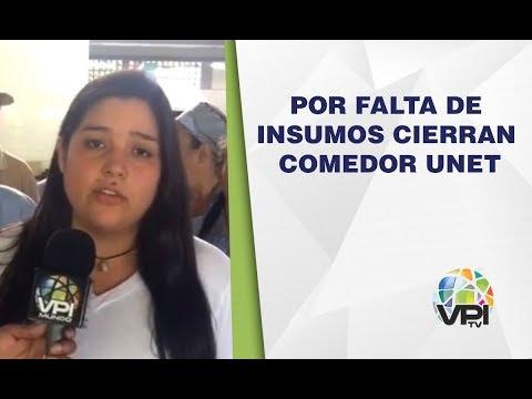 Táchira - Cierran comedor de la UNET por falta de insumos - VPItv