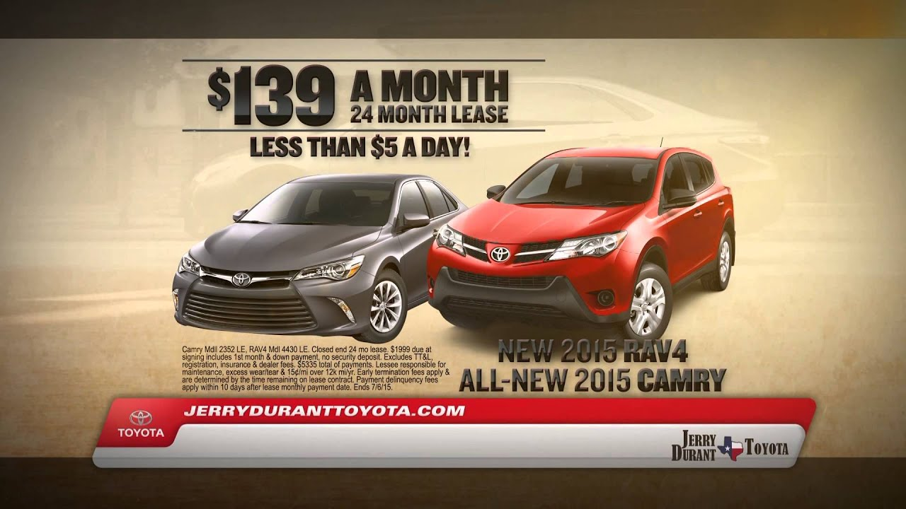 Jerry Durant Toyota Summer Sales Event Camry & RAV4