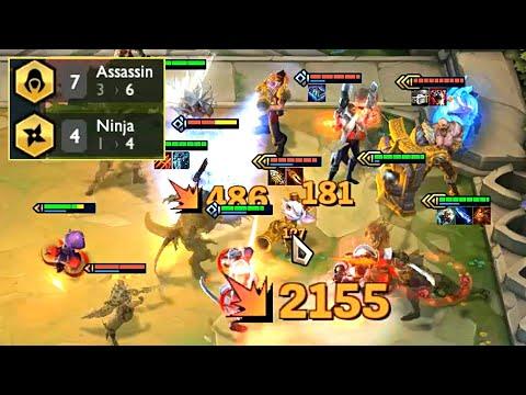 7 ASSASSINS + 4 NINJAS - Full Damage TFT Squad!