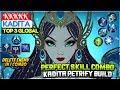 Perfect Skill Combo, Kadita Petrify Build [ Top 3 Global Kadita ] KKKKK Kadita Mobile Legends