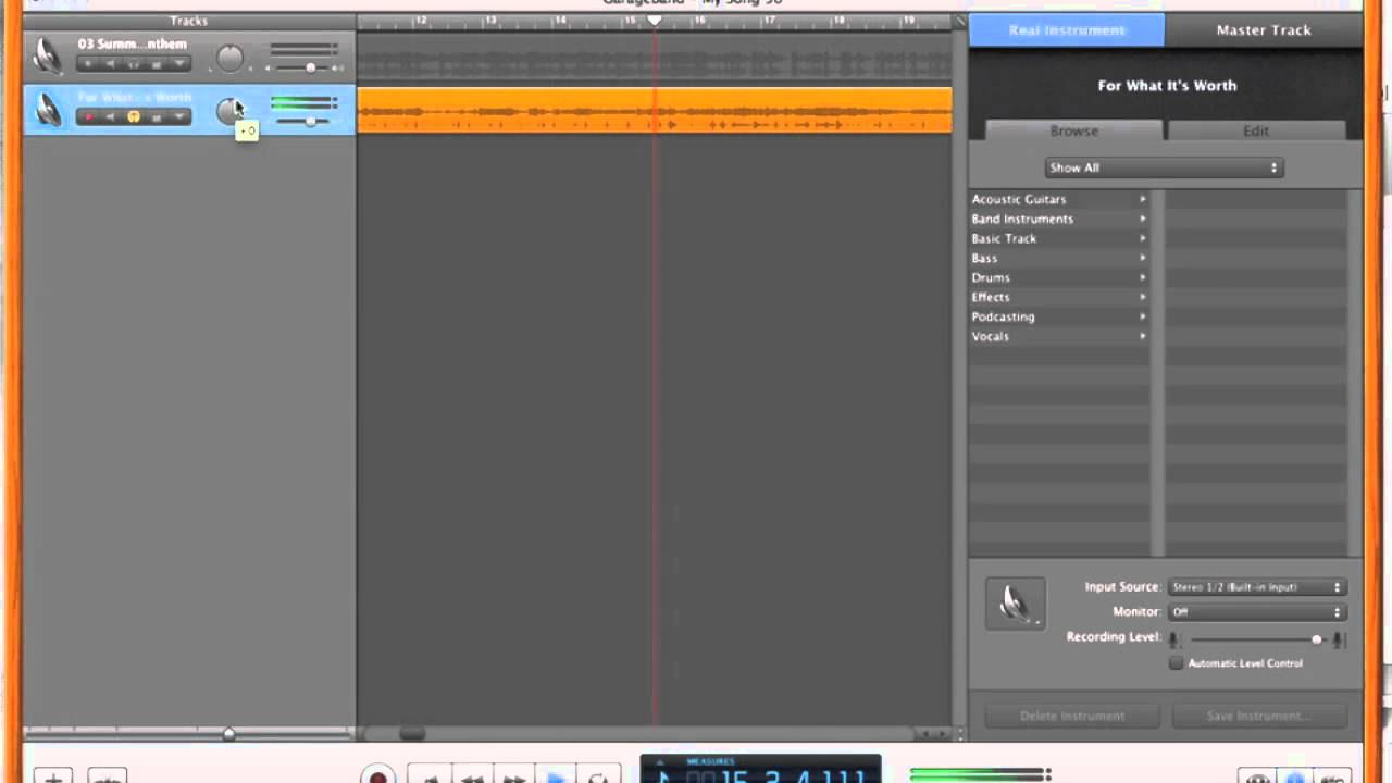 How to Remove Vocals Using Garage Band pt 2/3 Remove Lyrics from ...