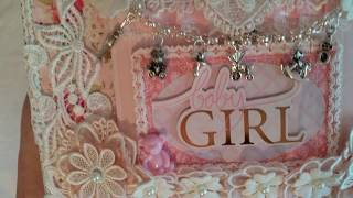 Baby Girl 8x10 Mini Album & Matching Box for Nit Wit Collections