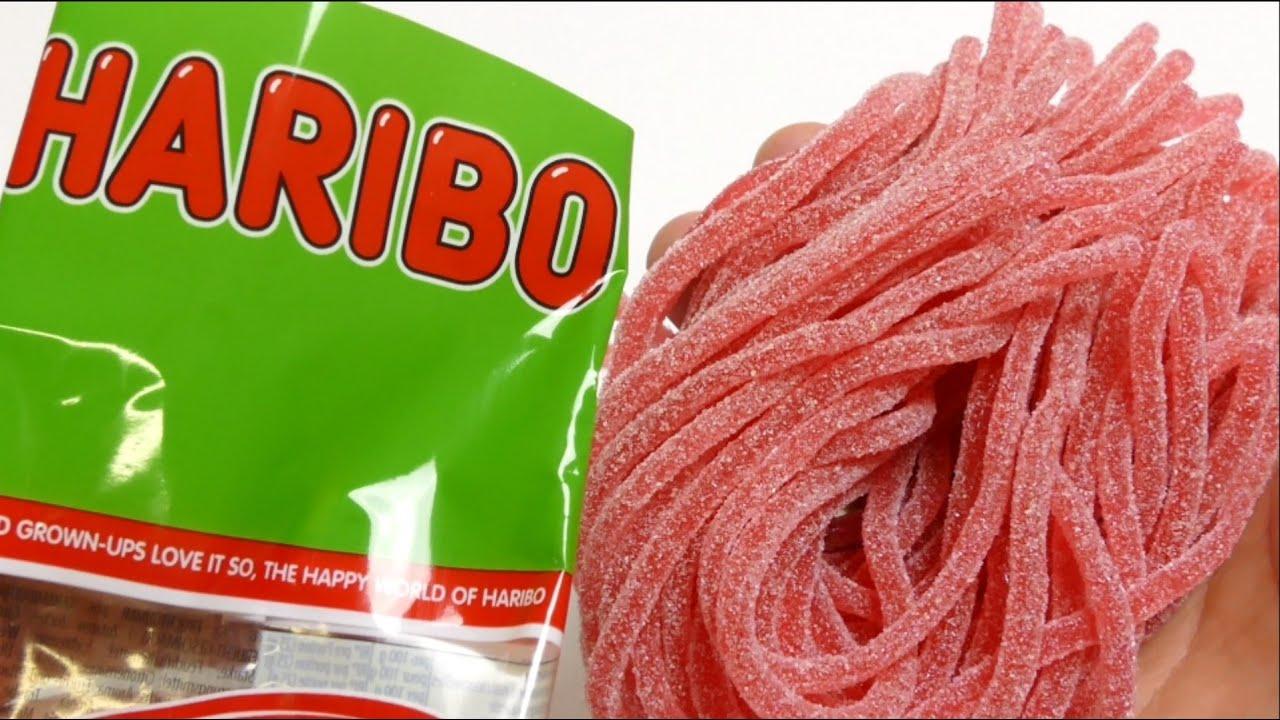 Afbeeldingsresultaten voor haribo spaghetti strawberry sour