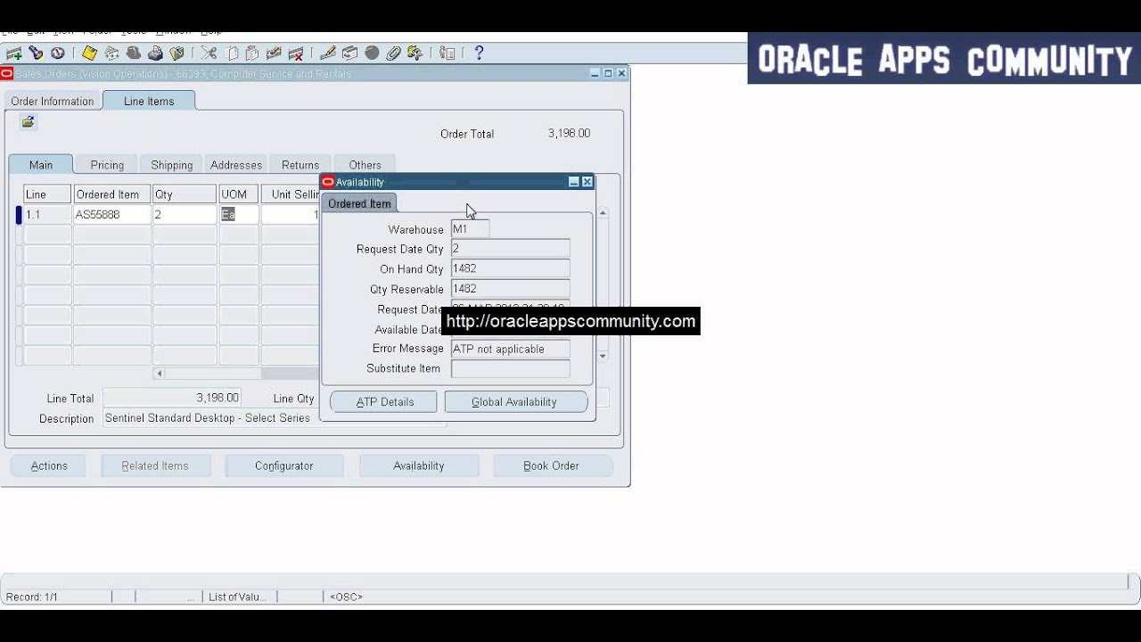 Sales Order Creation | ORACLE APPS COMMUNITY