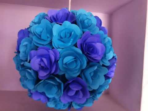 Paper Flower Pomanders Various Types And Sizes YouTube