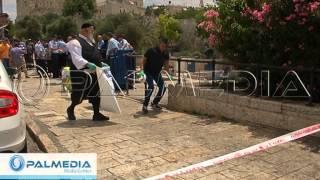 عملية طعن جندي اسرائيلي واطلاق النار على منفذ العمليه في القدس