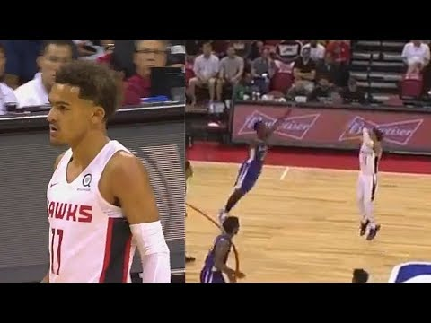 Trae Young Turns Into Stephen Curry and Shocks The Crowd vs Knicks! 2018 NBA Summer League