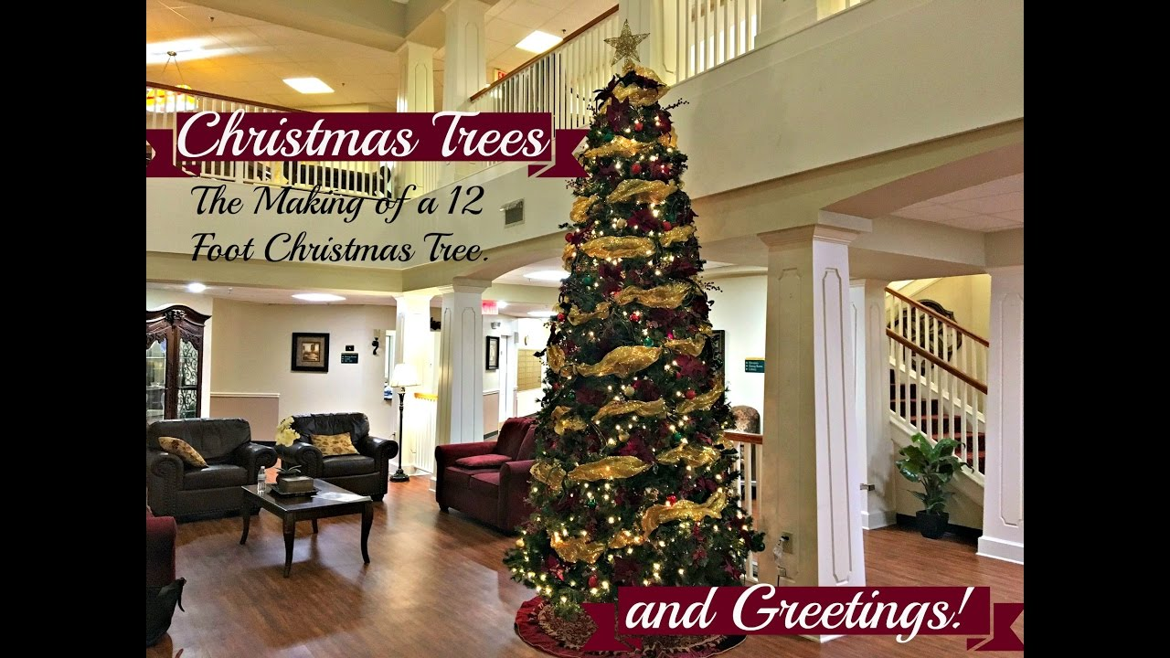 NEW! Christmas Trees And Greetings! The Making Of A 12